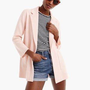 JCrew Sophie Open Front Pink Sweater Blazer Sz S